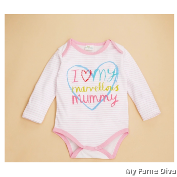 I Love Marvellous Mummy (Long Sleeve) Babysuit by CutiesDiva