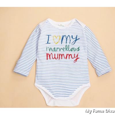 I Love Marvellous Mummy (Long Sleeve) Babysuit by CutiesDiva