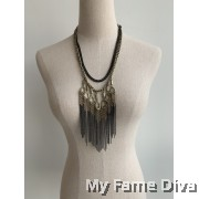 Bohemian Xena Droplet Chain Necklace