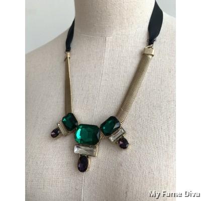 Marni Diamante Strap Necklace