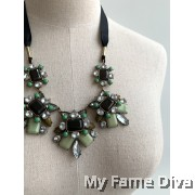 Jade Diamante Strap Necklace
