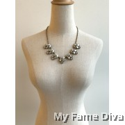 Crystallia Diamante Statement Necklace