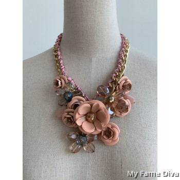 Gardens of Pink Roses Marni Necklace
