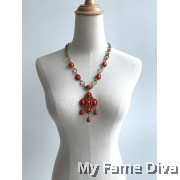 Bohemian Clover Droplet Necklace