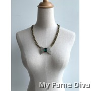 Rugged Diamante Chain Necklace