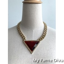 Triangle Diamante Chain Necklace