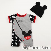 Cutie Mickey with Hat Baby Romper by CutiesDiva