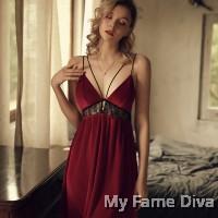 Velvet Mesh LUXE Slip Dress