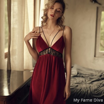 Velvet Mesh LUXE Slip Dress