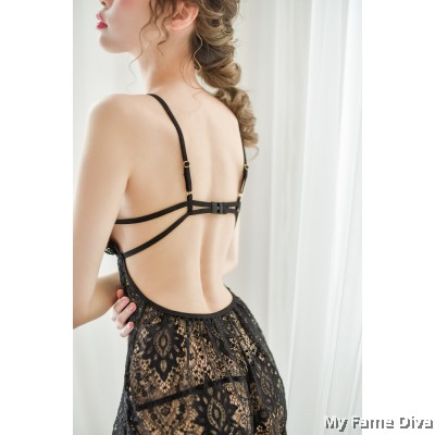 Sheer n Sexy : Elise Lace Babydoll Lingerie