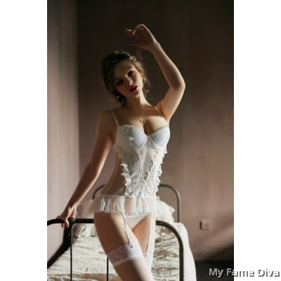 Sheer & Sexy : ANDRA Bustier Lingerie Set