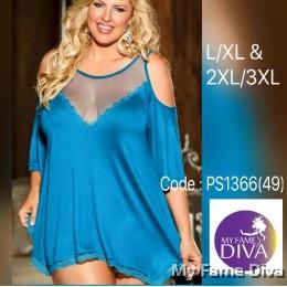 Plus Size Jersey Knit Chemise Lingerie