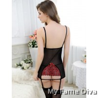 LUXE : D'Fleur Roses in Red Corset