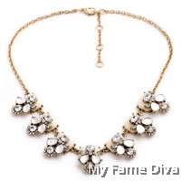Diamante Butterfly Bracket Statement Necklace