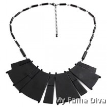 D'stylo BLACK Metal Statement Necklace
