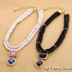 BLACK Beauty Diamanté necklace