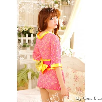 Oriental Kimono Fluffy Fantasy Lingerie