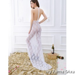 Bridal Lingerie : Long Dress Night Gown