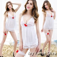 Bridal Lingerie : Pretty in White Babydoll Lingerie