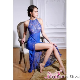 High Neck Babydoll Long Dress