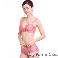 3D Ultimate Comfort Brassiere PINK Set (Wireless)