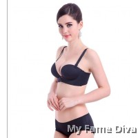 3D Ultimate Comfort Brassiere BLACK Set (Wireless)