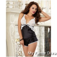 Butterfly Lacey Babydoll Pajamas Short