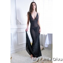 Sexy Shimmering Fishtail Xtreme Long Dress