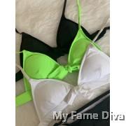 Back 2 Basics : Unlined Ribbon Bikini Set