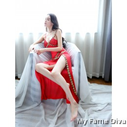 Belly Dancer Long Dress Costume