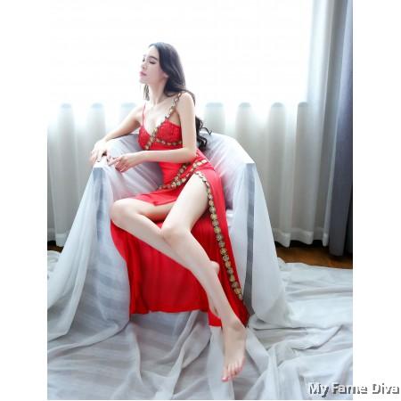Belly Dancer Long Dress Costume