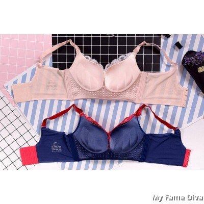 Alluring SATIN Beauty Bra Set - Devilish Blue (Wireless)