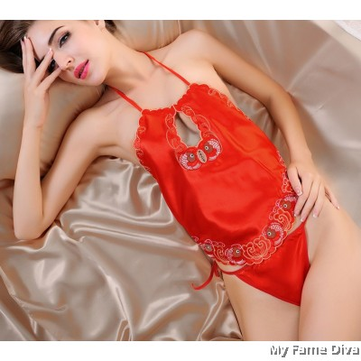 Oriental Beauty : Embroidery China Doll Lingerie