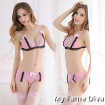 4pcs Sexy Ribbon Sweetie Garter Set