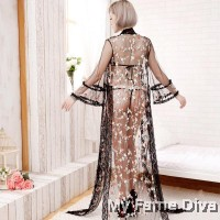 Spring of Love : D'Fleur Layering Long Robe & Bikini Set