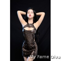 Wild Things : Sexy Leather 1pc Clubbing Costume Dress