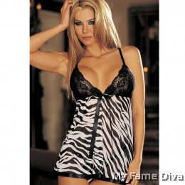 PLUS SIZE : Wild Thing in Print Babydoll