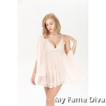 PLUS SIZE : Sweetie Babydoll with Scarf