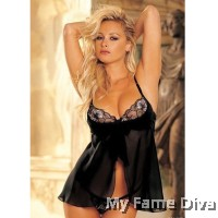 PLUS SIZE : Bustier Open-Flair Lacey Babydoll