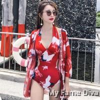 Oriental Beach : 1pc Swimsuit + Cover-Up Kimono