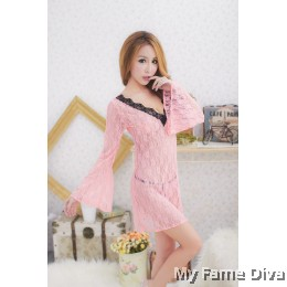 Babydoll Lacey Butterfly Long Sleeve