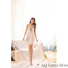 Enticing D'Fleur Satini Nighty