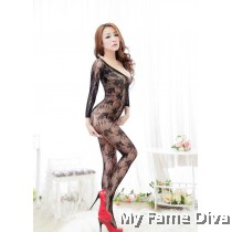 Bodystocking : D'Fleur in Long Sleeve
