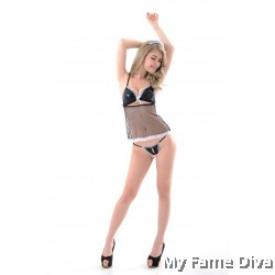 Flirty French Maid-inspired Leather Costume Set