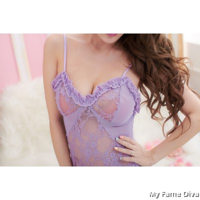 Purplicious in Mesh Babydoll
