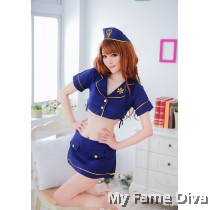 Sexy Policewoman Costume in Skirt