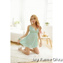 Lacey in Mint Babydoll