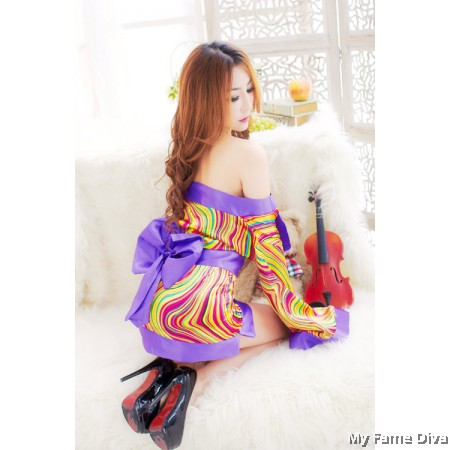 Oriental Kimono Fancy Costume Set