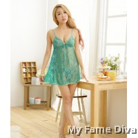Sweetie Deep-V Lacey Babydoll