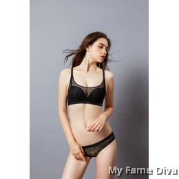 Sporty Mesh Bra Set - BLACK